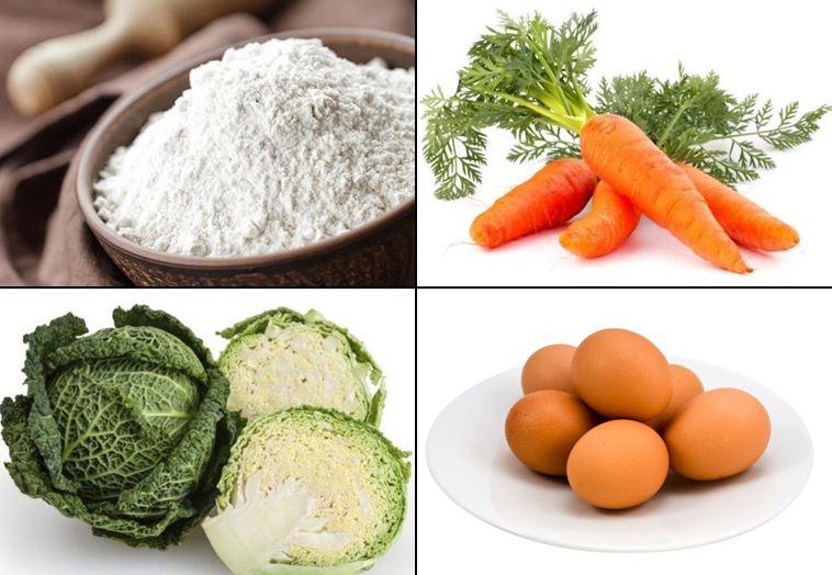 resep bakwan sayur bahan