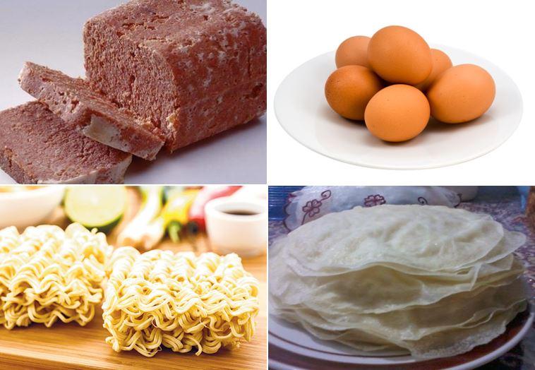 resep martabak mie telur kornet bahan
